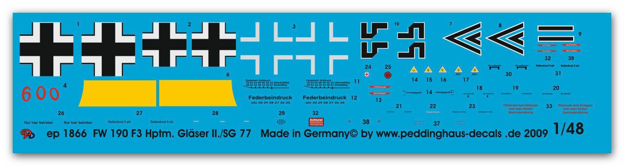Peddinghaus 1 48 1866 Fw 190 F 3 hptm Vasos Vasos Vasos II SG 77 porkurov Marzo 1944  ventas en linea