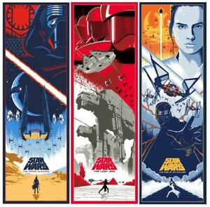 Star Wars Sequel Trilogy Alt Movie Poster Set Eric Tan Rise Skywalker Nt Mondo Ebay