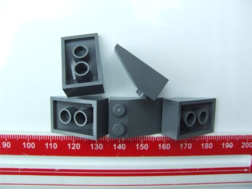 5 x Lego Grey ROOF TILE 2X3//25 degrees Parts /& Pieces 4211106