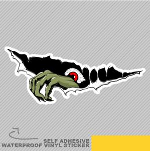 Trou Zombie étrange créature Lookin Vinyle Sticker Autocollant Fenêtre Voiture Van Vélo 2733
