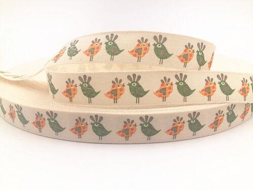 Printed Cotton Ribbon 15mm merry chirstmas Gift Present DIY Sewing Craft