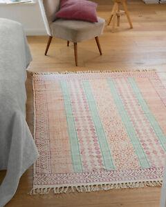 Details Zu Teppich Kurzflor Baumwolle Farben 120x180 Wohnzimmer Kinderzimmer Waschbar Bunt