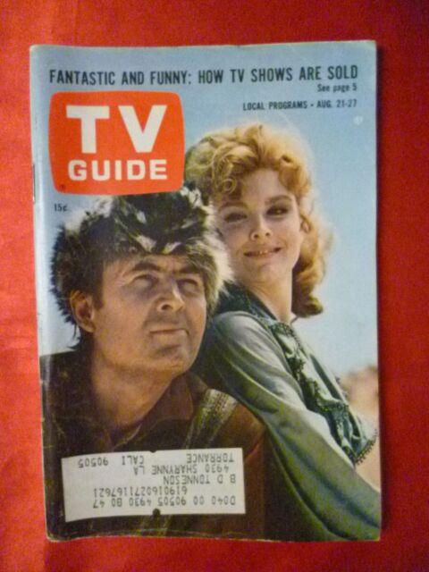 S California August 21 27 1965 TV GUIDE DANIEL BOONE Fess Parker Patricia Blair