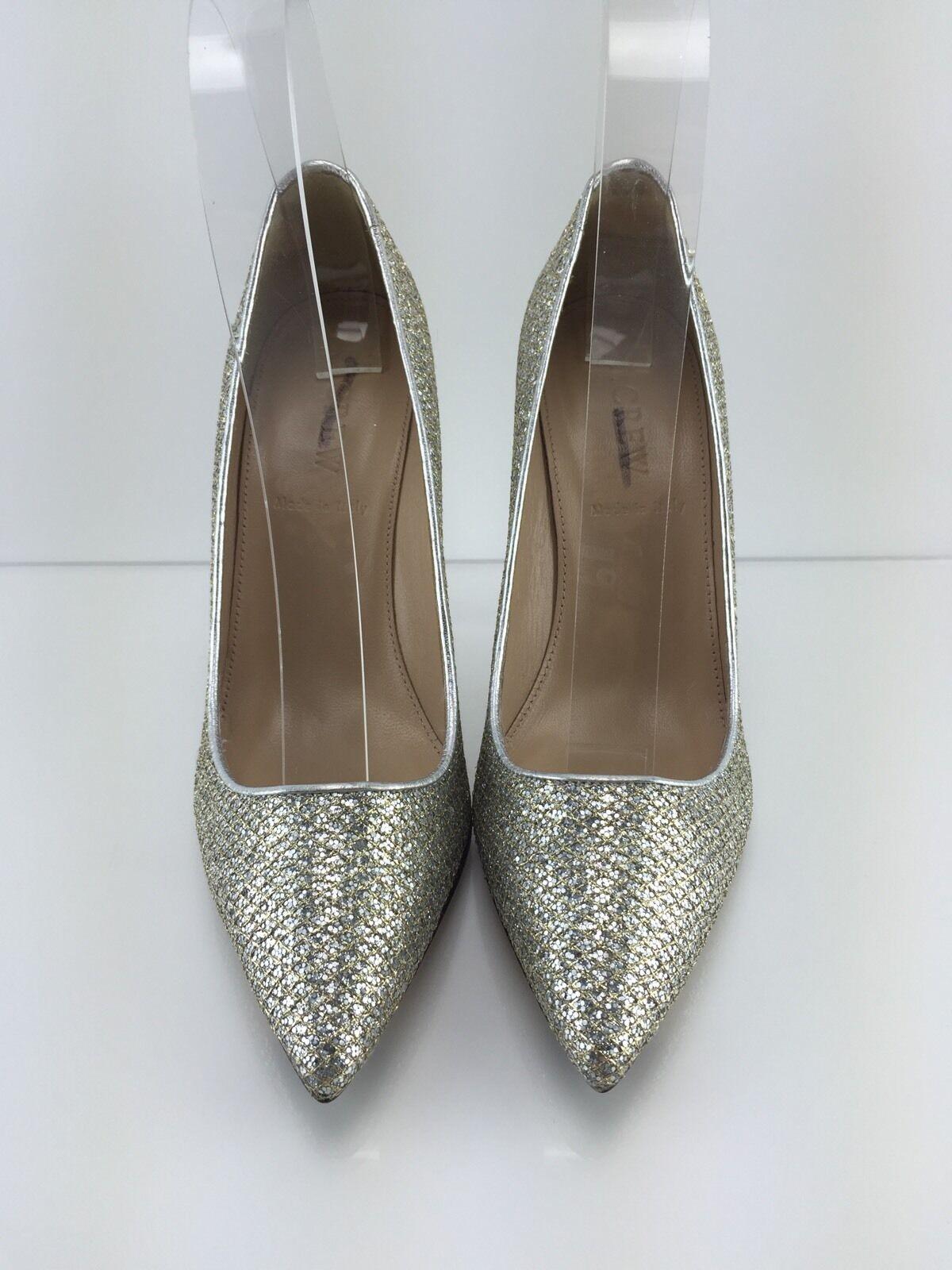 278 J. Crew Roxie Glitter Women's Metallic Silver gold gold gold Heels 5.5 5da936