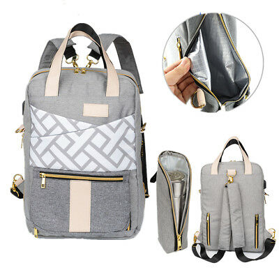 Maternity Newborn Baby Back Pack EZGO Diaper Backpack Leather Diaper Bag with Changing Pad Stroller Hanger