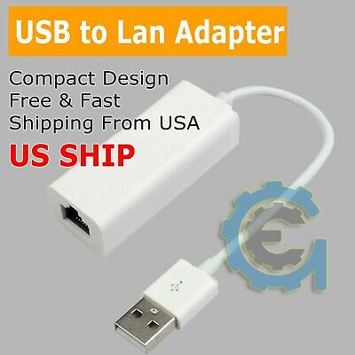 USB to Ethernet RJ45 Network Adapter for Windows 7//8//10//Vista//XP 100Mbps