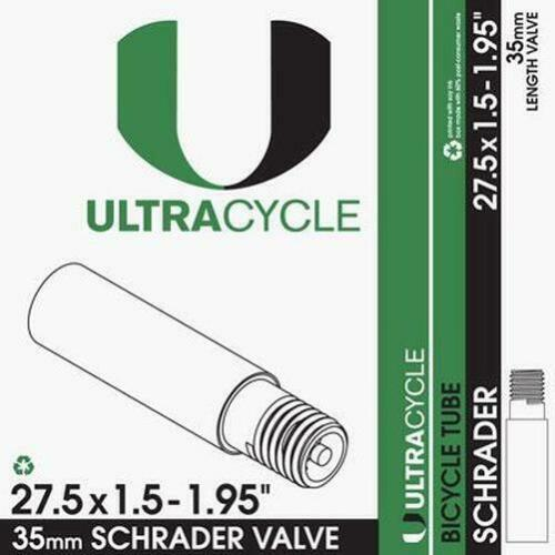 ULTRACYCLE Premium Bicycle Tube 27.5 x 1.5-1.95 Schrader 35mm
