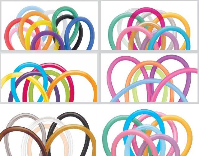 Paquete De 100 Qualatex Globos Modelado - Varios Colores - 160Q / 260Q / 360Q