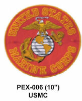 Usmc(iv) Embroidered Military Extra Large Patch Officially Licensed (10)