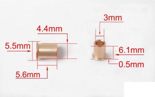 Brass Knuckle Bagues pour D44 Essieu x8 Z-S1716 RC4WD Top Hat Bush 5.6 x 4.4 mm