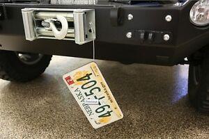 Rock Hard 4x4 Roller Fairlead License Plate Bracket W