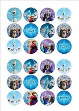 Frozen Elsa & Anna Edible Fairy Cup Cake Decoration Toppers Rice Paper x 24