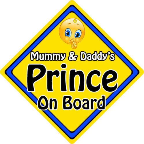Non Personnalisé Enfant//Bébé Sur Board Emoji Voiture Signe ~ Mummy /& Daddy/'s Prince