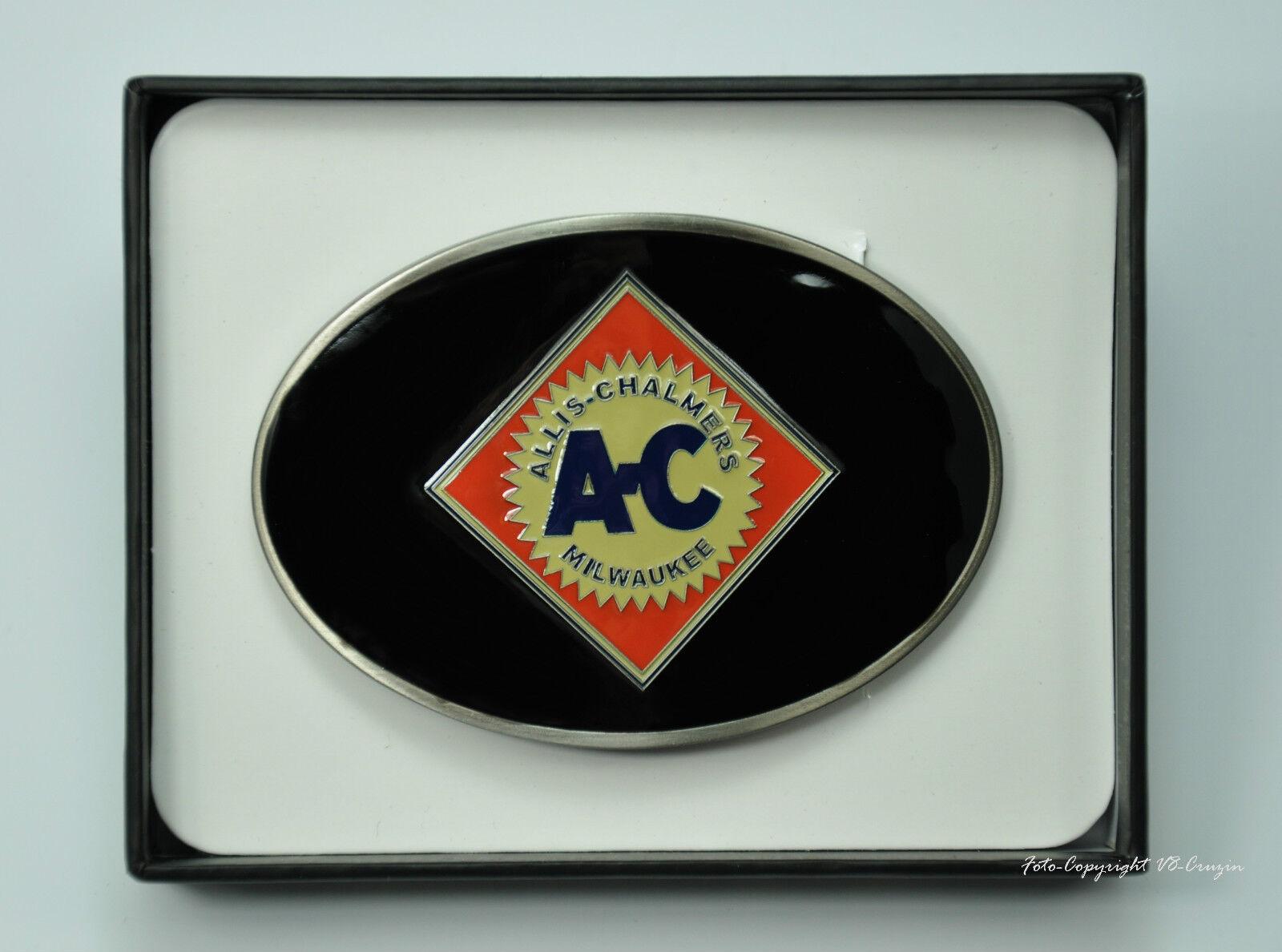 Allis Chalmers AGCO Gürtelschnalle Tractor Emblem Radlader Logo Buckle *606