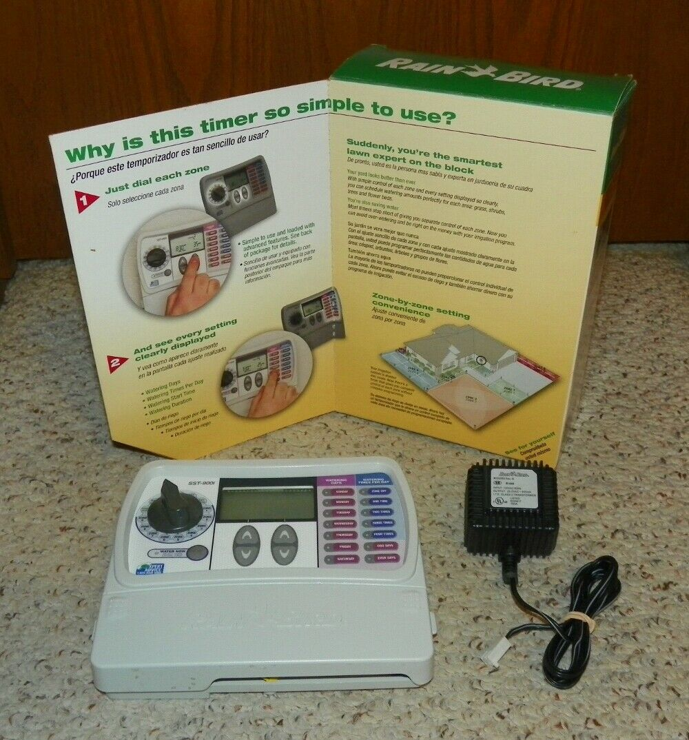 Rain Bird SST900I - Simple to Set Indoor Timer, 9-Zone Water Sprinkler Timer