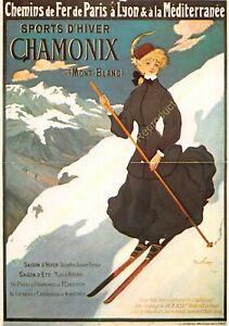 CP Poster Sport Chamonix Mount White Ski Edit Nugeron S14