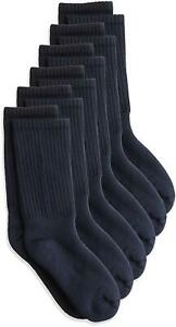 Jefferies Socks Boys' Little Seamless Half Cushion Sport Crew, Navy, Size