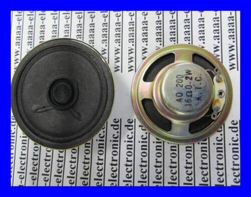 LAUTSPRECHER  für Sprechanlage Klingelanlage  KTC 16 Ohm 0,2W ø 50mm  1 Stück