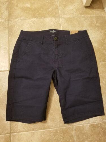NWT AEO American Eagle Twill Bermuda Shorts Navy 6,8,or 10