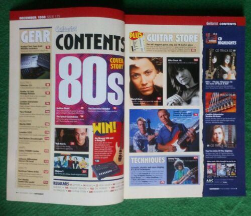 Guitarist Magazine+CD #175~The 80s~Rob Harris~Mojave 3~Sheryl Crowe~Mike Stern