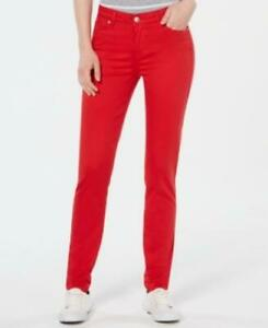 Celebrity-Pink-Juniors-039-Jayden-Mid-Rise-Colored-Wash-Skinny-Jeans-Red-S