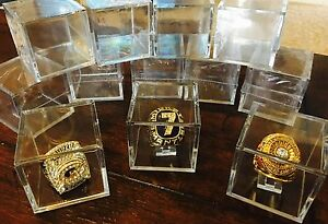 NEW Super Bowl World Series Championship Ring Display Cube Stand Holder