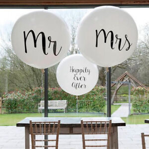 36inch-Print-Mr-amp-Mrs-Latex-Balloons-Wedding-Day-Event-Air-Globos-Supplies-JH-BF