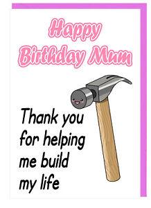 Biglietto Di Auguri Compleanno Mamma Step Mum Ringraziamenti Per