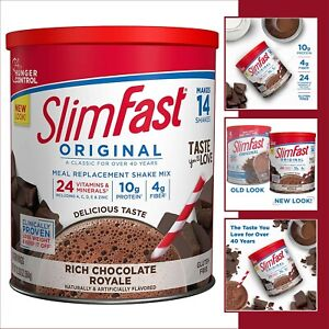 SlimFast Original Rich Chocolate Royale Meal Replacement Shake Mix – Weight Loss