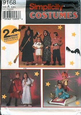 Simplicity 9168 2 Hour Express Witch Pirate Devil Genie Costume Pattern UNCUT