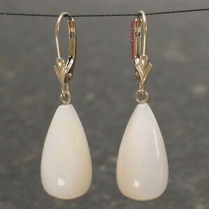 14k-Yellow-Solid-Gold-Lever-Back-Dangle-Raindrop-Mother-of-Pearl-Earrings-TPJ