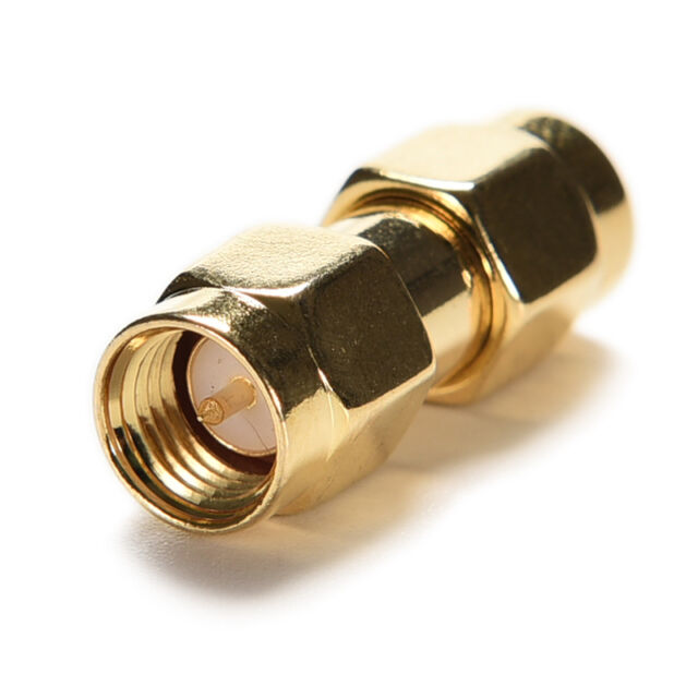 Hot sale Adapter SMA male to SMA male plug RF connector straight gold plating SE
