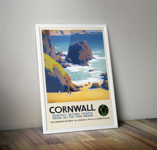 A2 Vintage Posters Cornwall Cornish Riviera 02