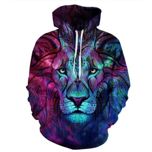 Men/'s Women/'s Hoodie 3D Print Sweatshirt Jacket Coat Pullover Graphic Tops Lot