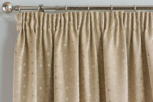 1 Pair Of Block Out Thermal Metallic GEMINI TapedTop Pencil Pleat Curtains GREY