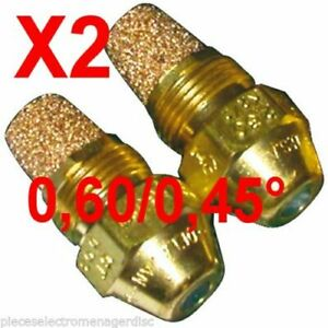 Gicleur fioul fuel  60° 0.45 W Lot de 2 marque DELAVAN chaudiere fioul nozzle