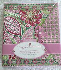 VERA BRADLEY BREAST CANCER TREATMENT JOURNAL ORGANIZER PINK RIBBON BOOK