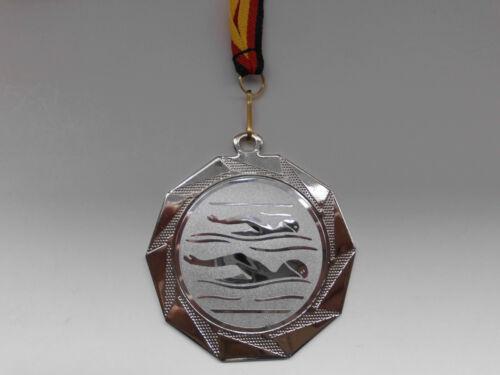 Pokale & Preise E103 Schwimmen Pokal Kids Medaillen 70mm mit Emblem Deutschland-Band Turnier