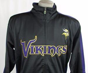 innovative design a0296 88bb3 Details about Minnesota Vikings Men's Big & Tall 3XL-5XL Full-Zip Track  Jacket NFL Black A14