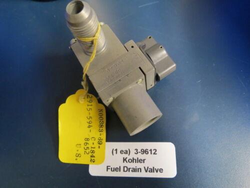Kohler Aircraft Fuel Drain Valve 3-9612 Shut Off  NOS