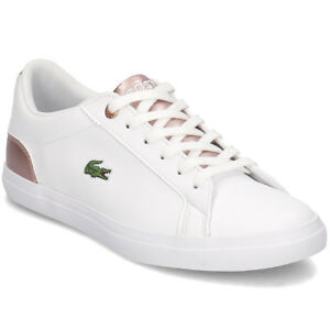 bcf0ed388 Image is loading lacoste-lerond-318-3-leather-trainers-kids-girls-