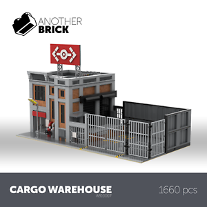 LEGO City Modular Custom Building Cargo Warehouse INSTRUCTIONS ONLY!