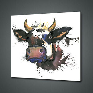 ABSTRACT-INK-COW-CANVAS-PICTURE-PRINT-WALL-ART-HOME-DECOR-FREE-DELIVERY