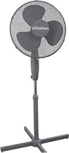 2-X-Schallen-Gris-16-034-alto-pedestal-oscilante-electrico-de-pie-ventilador-de-aire