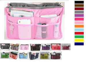 New-Women-Travel-Insert-Handbag-Organiser-Purse-Large-Liner-Organizer-Tidy-Bag