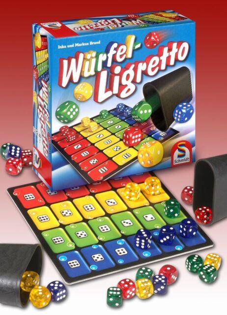 Schmidt Spiele Würfel-Ligretto Kinder-Spiel Bildung für Mädchen und Jungen NEU