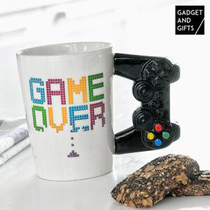 "Kaffee Playstation Gamepad Gamer Tasse ""Game Over"" Kaffeetasse Gamecontroller"