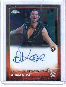 WWE-Adam-Rose-2015-Topps-Chrome-Authentic-Autograph-On-Card