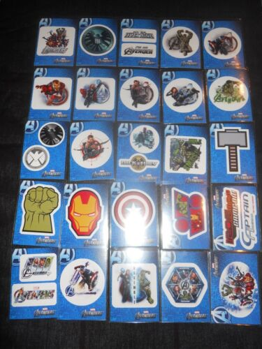 2012 Avengers Assemble Full Stickers Insert Set Of 30 Trading Cards S1 to S30