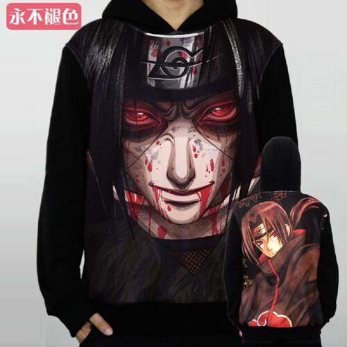 Naruto Akatsuki Uchiha Itachi Cosplay Hoodie Sweater Outfit Top Anime Jacket New